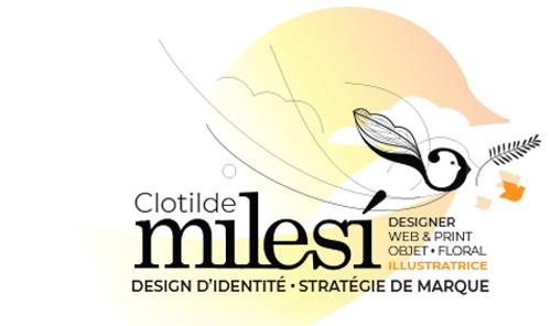 Clotilde Milesi Design – Web & Print . Illustratrice Logo